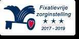 Waarborgzegel Fixatievrije Zorginstelling 3 sterren