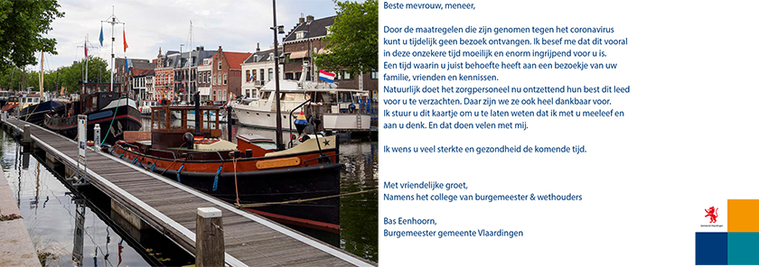 Kaart van gemeente Vlaardingen aan bewoners van Vaartland