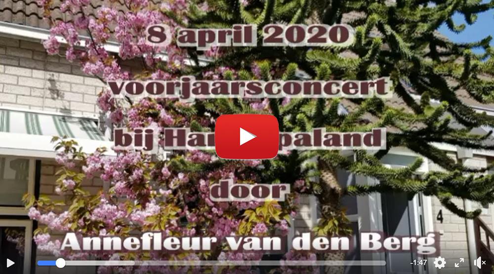 Voorjaarsconcert door Annefleur van den Berg bij Harg-Spaland